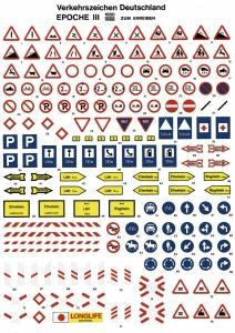 Znaki drogowe - Niemieckie, Ep. III, skala H0