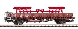 Wagon platforma KIm 441 z ładunkiem, DB, Ep. IV