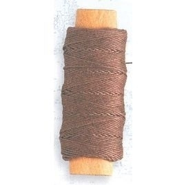 Lina bawełniana brązowa 0,25 mm, 30 m