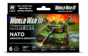 Vallejo 70223 Zestaw World War III 6 farb - NATO Armour & Infantry