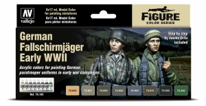 Vallejo 70185 Model Color Zestaw 8 farb - German Fallschirmjäger Early WWII