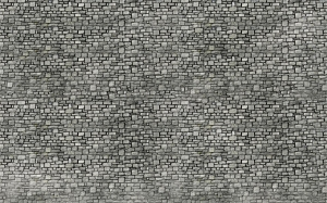 Mur z kostki granitowej
