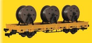Kibri 26269 Wagon platforma z trzema szpulami kabli GleisBau