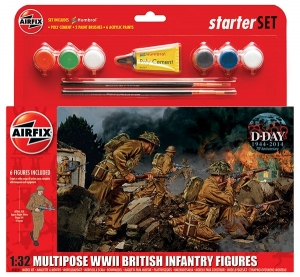 Airfix A55211 Starter Set - WWII British Infantry Multipose 1:32