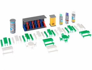 Kibri 38608 H0 Akcesoria - Ławki, stoliki