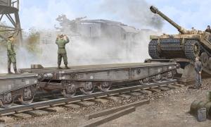 Trumpeter 00221 Wagon platforma SSyms 80 - 1:35