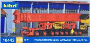 Kibri 10442 H0 Podwozie do transportu dźwigu Gottwald AKM 1000-103