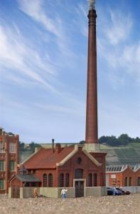 Kibri 37224 Fabryka - kotłownia z kominem