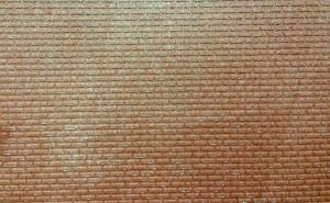 Mur z czerwonej cegły, wnętrze tunelu 0/1 50x25 cm