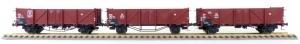 Exact-Train EX20141 Zestaw 3 wagonów Klagenfurt Omm34, Duisburg Omm37 (EUROP), Duisburg Omm37 (EUROP), DB, Ep. III