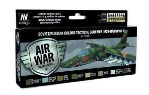 Vallejo 71608 Zestaw Air War 8 farb - Soviet / Russian colors Tactical Schemes 1978-1989 (Part II)
