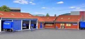 Kibri 39211 H0 Biura i garaże THW Kitzingen