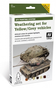 Vallejo 78405 AFV Weathering System: Weathering for Yellow and Grey vehicles
