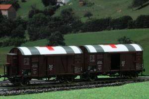 Exact-Train EX20190 Zestaw 2 wagonów towarowych krytych Oppeln Grs, DRG, Ep. II