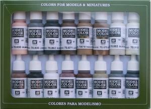 Vallejo 70144 Zestaw Model Color 16 farb - Equestrian Colors