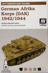 Vallejo 78410 AFV Camouflage System: German Afrika Korps 1942-1944 (DAK)