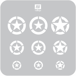 Vallejo ST-AIR004 Szablon USAF Marks, 1:32, 1:48, 1:72