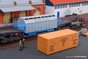 Kibri 16511 H0 Pojemnik CASTOR i drewniana skrzynia ładunkowa
