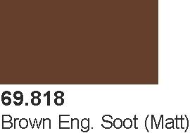 Vallejo 69818 Mecha Color 69818 Brown Eng. Soot (Matt)