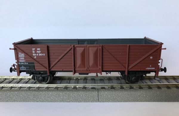 Exact-Train EX20345 Wagon towarowy odkryty Klagenfurt, 27 51 501 6 263-2 .E PKP, ep. IV