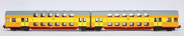 Rivarossi HRS4232 Dwuwagonowy zespół piętrowy typ Bhp, PKP, Legnica