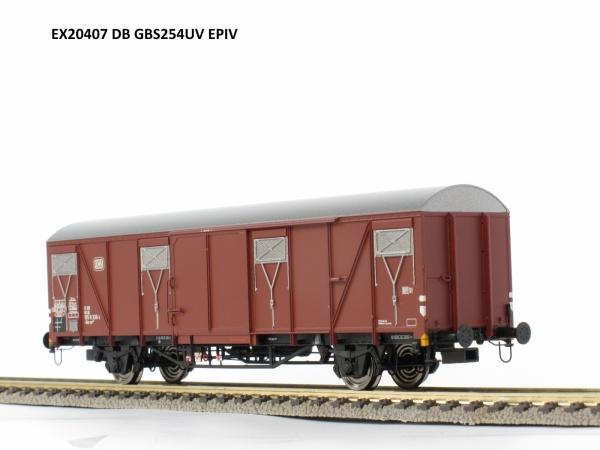 Wagon towarowy kryty Gbs 254 uv, DB, Ep. IV
