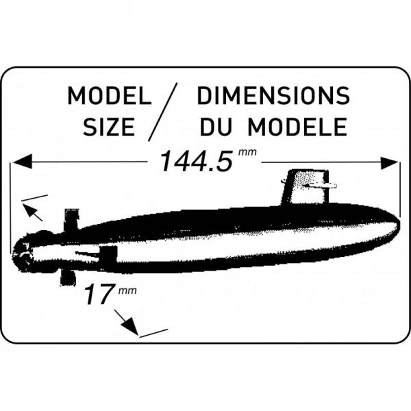 Heller 81069 Okręt podwodny Dafne - 1:400