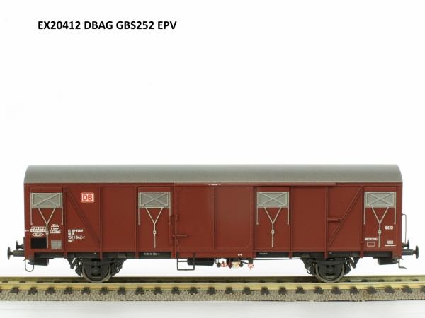 Exact-Train EX20412 Wagon towarowy kryty Gbs 252, DB, DB AG, Ep. V
