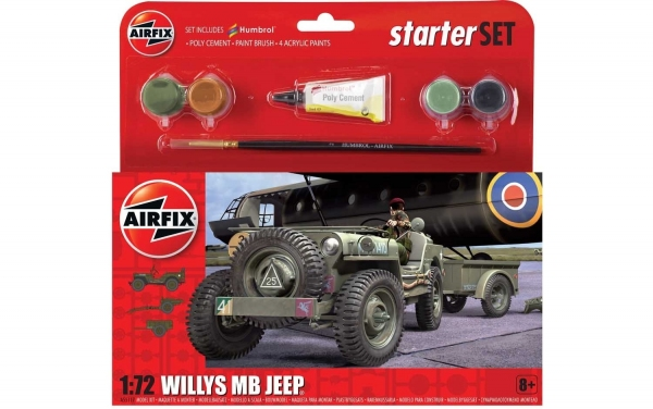 Airfix A55117 Starter Set - Jeep MB - 1:72