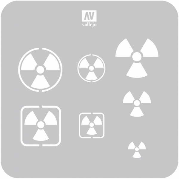Vallejo ST-SF005 Szablon Radioactivity Signs