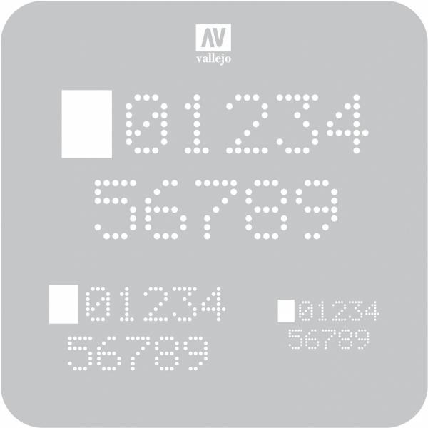 Vallejo ST-SF004 Szablon Digital Numbers