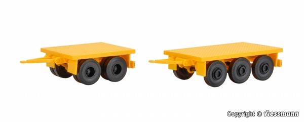 Kibri 13050 H0 Przyczepy do przewozu balastu dźwigu - 2 szt.
