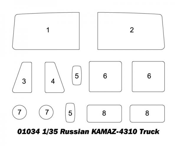 Trumpeter 01034 Samochód ciężarowy KAMAZ 4310 - 1:35