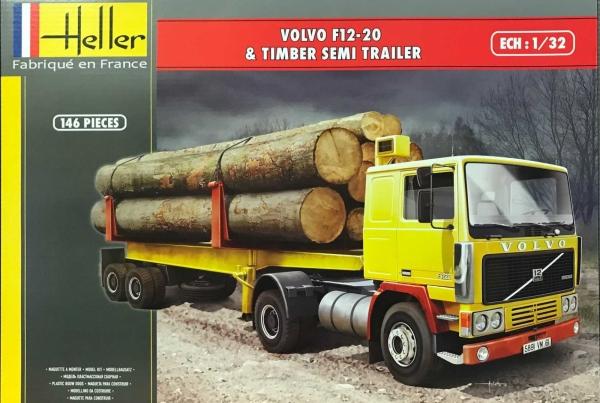 Heller 81704 Volvo F12-20 z naczepą do drewna 1:32