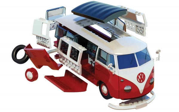 Airfix J6017 Quickbuild - VW Camper Van - Red