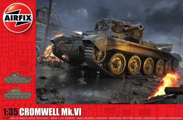 Airfix A1374 Cruiser Tank Mk.VIII A27M Cromwell Mk.VI - 1:35