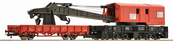 Roco 56240 Dźwig kolejowy z wagonem platformą DB AG, EP. V