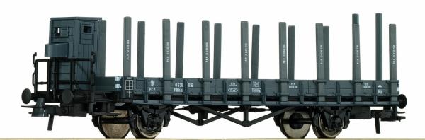Roco 66349 Wagon platforma z kłonicami Pdkh PKP, Ep. III