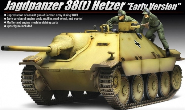 Academy 13278 Jagdpanzer 38(t) Hetzer (ver. Early) - 1:35