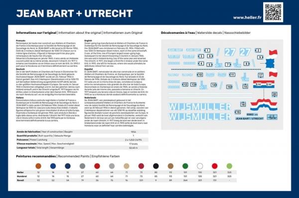 Heller 85602 Jean Bart + Utrecht Twinset - 1:200