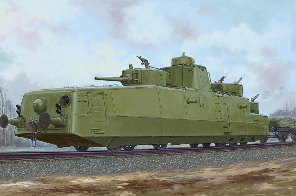 Hobby Boss 85514 Radziecki pociąg pancerny MBV-2 (late F-34 GUN) - 1:35