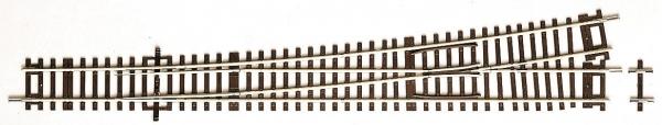 Rozjazd lewy WL10, r=1946 mm,10°