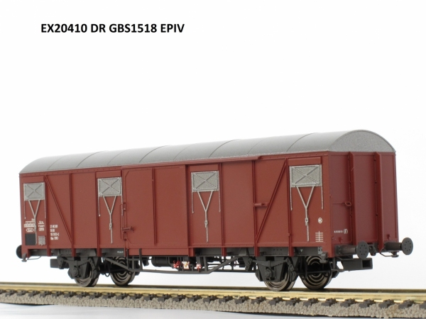 Wagon towarowy kryty Gbs 1518, DR, Ep. IV
