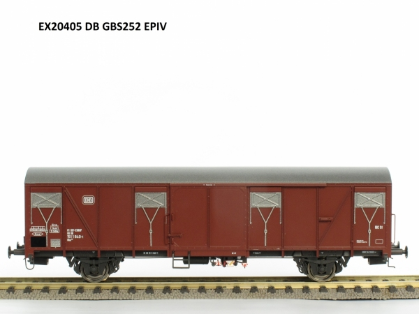Exact-Train EX20405 Wagon towarowy kryty Gbs 252, DB, Ep. IV
