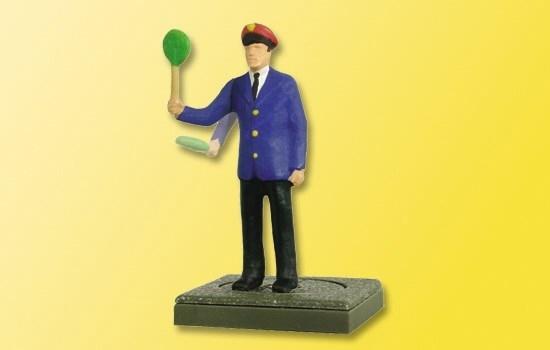 Zawiadowca stacji kolejowej - ruchoma figurka H0