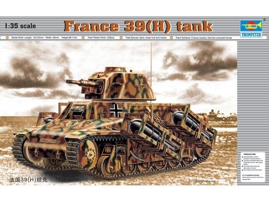 Trumpeter 00352 France 39(H) tank SA 38 37mm gun - 1:35