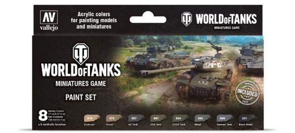 Vallejo 70245 Model Color Zestaw 8 farb - World of Tanks