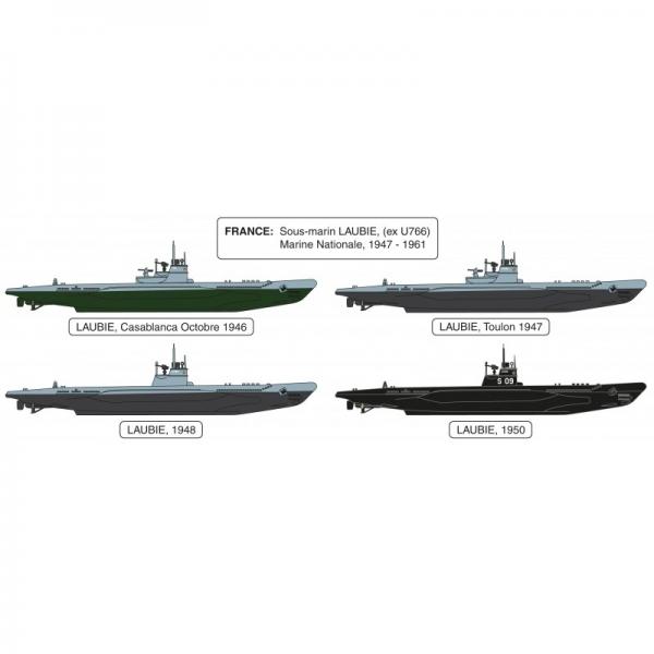 Heller 81076 Okręt podwodny Laubie - 1:400