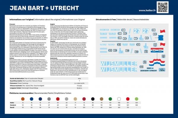 Heller 55602 Starter Set - Jean Bart + Utrecht Twinset - 1:200
