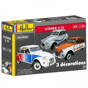 Heller 80767 Citroen 2 CV Decorations Speciales - 1:24